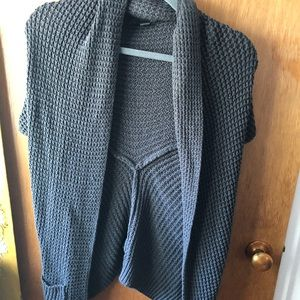 Forever 21 knit shawl charcoal grey size M